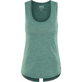 super.natural Motion Slash Neck Top Women, aloe green 3d